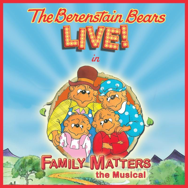 Berenstain Bears with a red backdrop