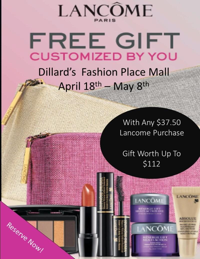 Free Lancome Gift with Purchase from Dillard's