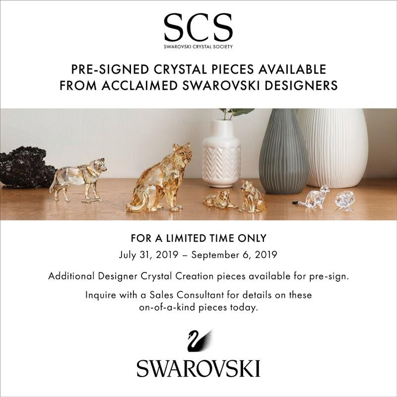 One-of-a-kind Pre-signed Crystal Pieces from Swarovski