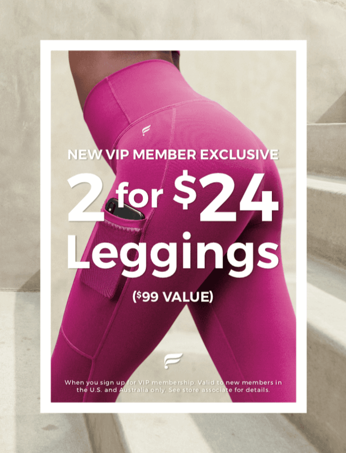 """New VIP Member Exclusive """"2 for $24"""" from Fabletics"""
