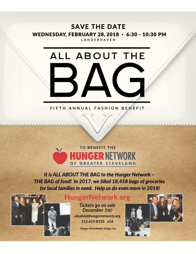 Event poster for All About The Bag with information and photos of past events