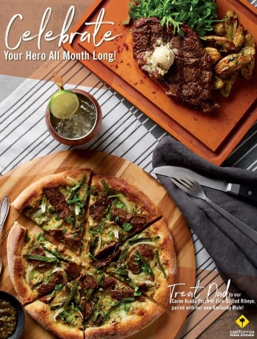 Celebrate Your Hero All Month Long! from California Pizza Kitchen