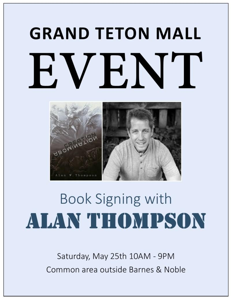 May 25th Book Signing with Alan Thompson