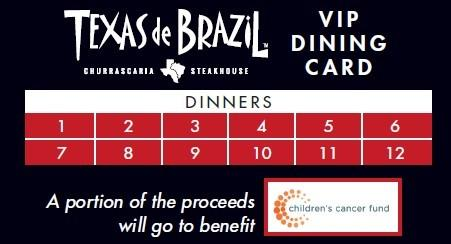VIP Dining Cards on Sale Now from Texas De Brazil