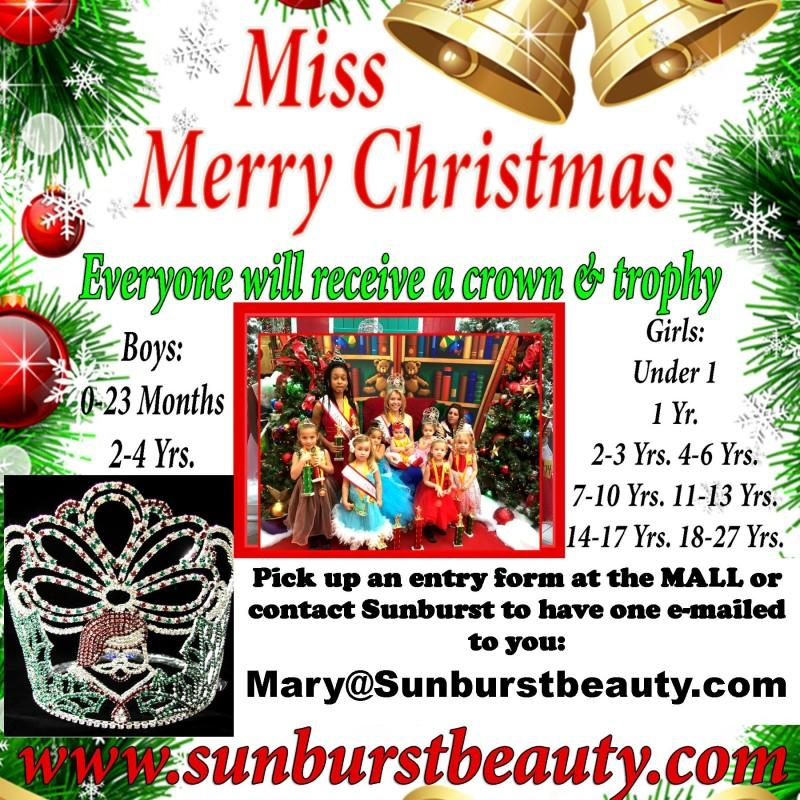 Sunburst Miss Merry Christmas Pageant at RiverTown Crossings ...
