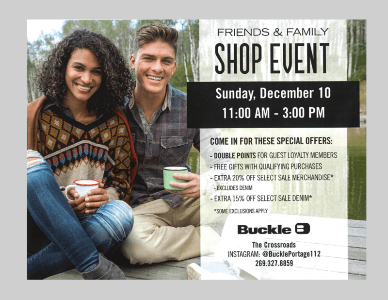 Friends and Family Sunday December 10th 11am-3pm