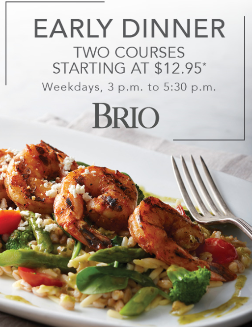 Two-course Early Dinner Combos!