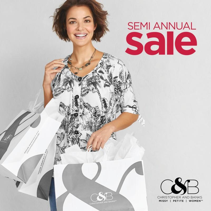 Semi-Annual Sale from C&B CHRISTOPHER AND BANKS