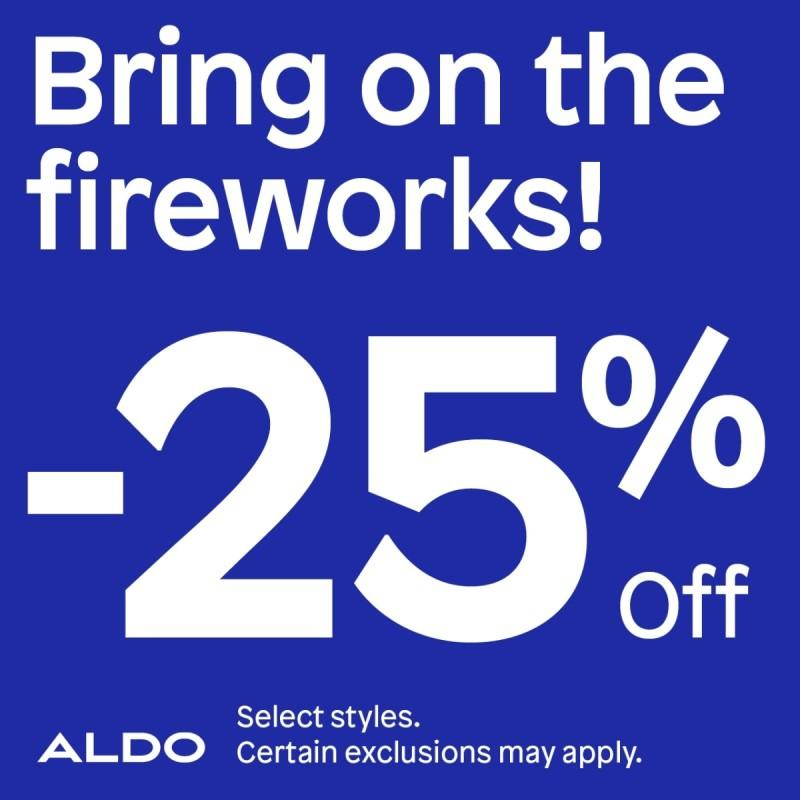 Bring on the fireworks! from ALDO