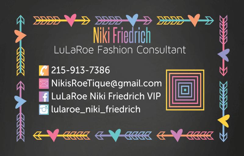 Flier for luluaroe pop up by niki friedrich