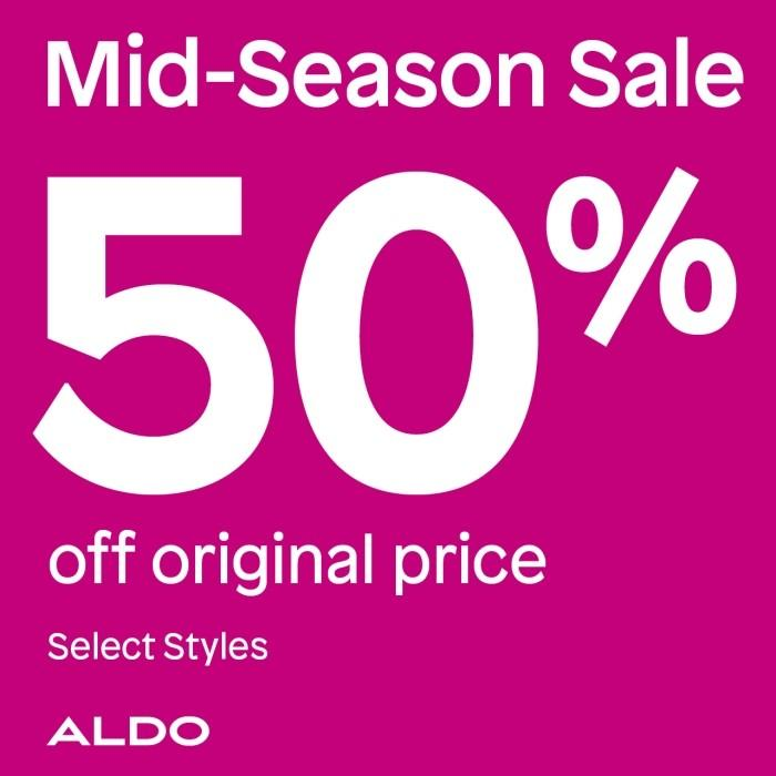 50% off select styles from ALDO Shoes