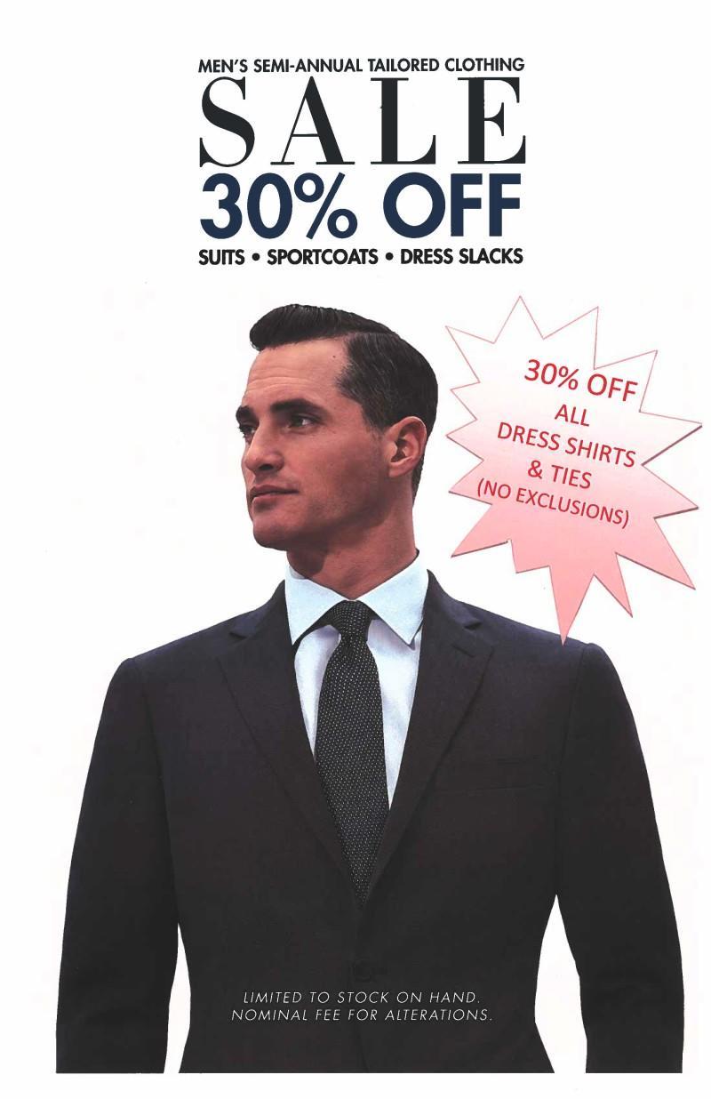 30% Off All Dress Shirts & Ties! from Dillard's