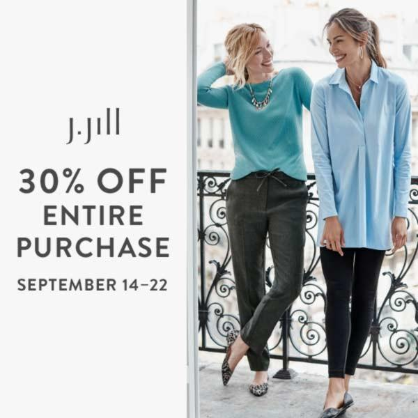 30% Off Entire Purchase* at J.Jill from J.Jill
