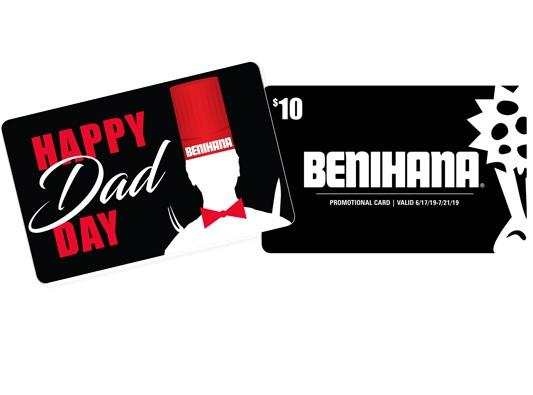 Father's Day gift card offer from Benihana