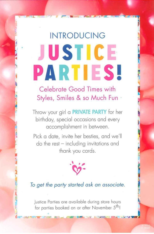 Justice Parties flyer