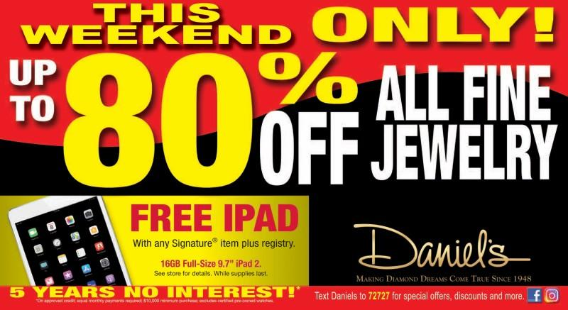 Free iPad from Daniel's Jewelers