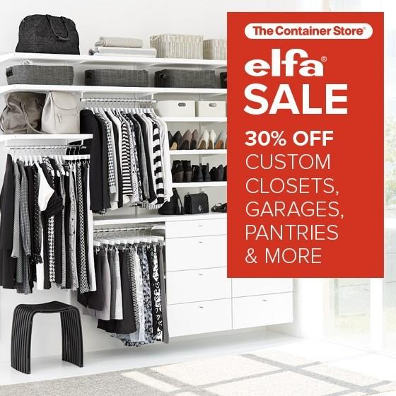 Save 30% on Custom Closets and much more!
