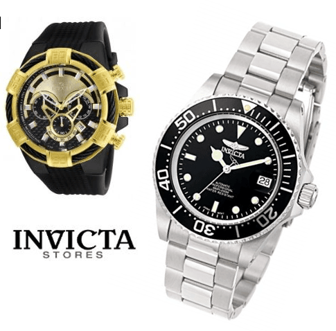 BUY 2, GET 3 MORE WATCHES FREE from Invicta