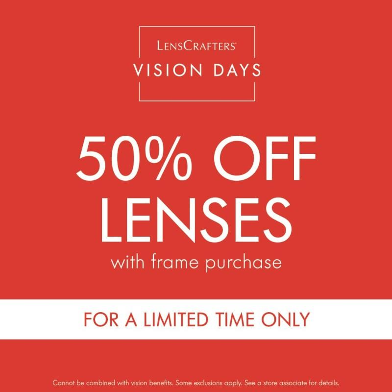 Lenscrafter's Vision Days from LensCrafters