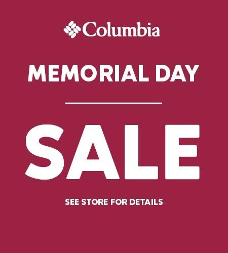 25% off Select Styles during the Memorial Day Sale from Columbia