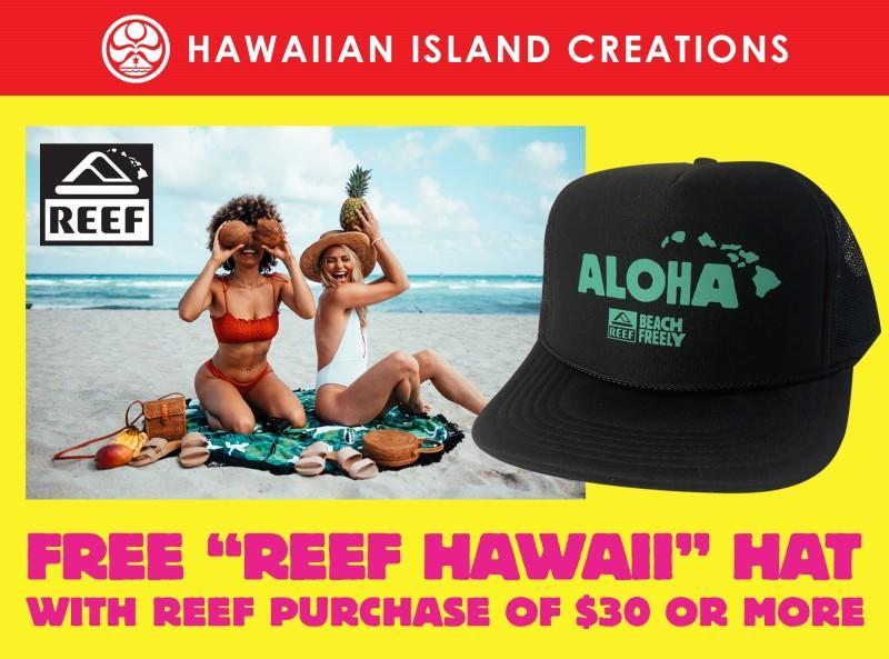 "Free ""Reef Hawaii"" Hat with $30 Purchase from Hawaiian Island Creations"