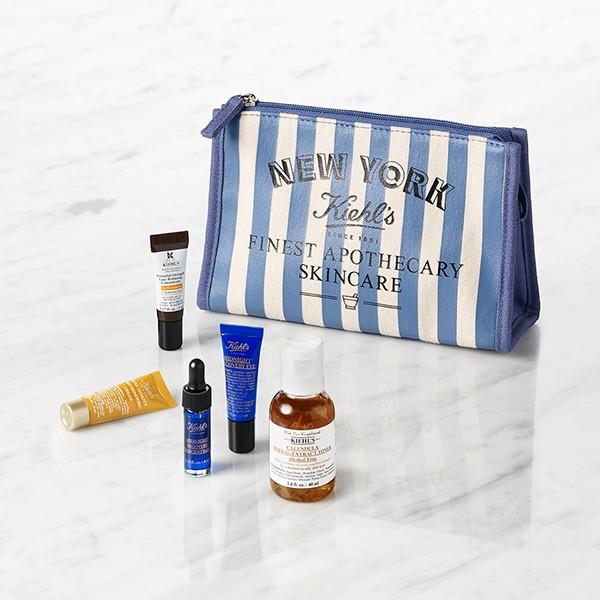 Free Blue Travel Bag with $65+ Purchases from Kiehl's