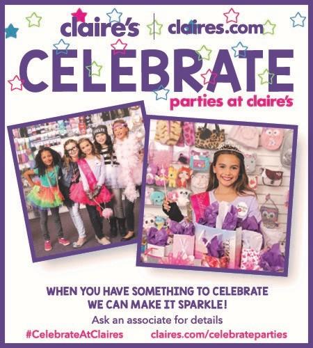 Let Claires Host an End of School Year party for you & your friends from Claire's