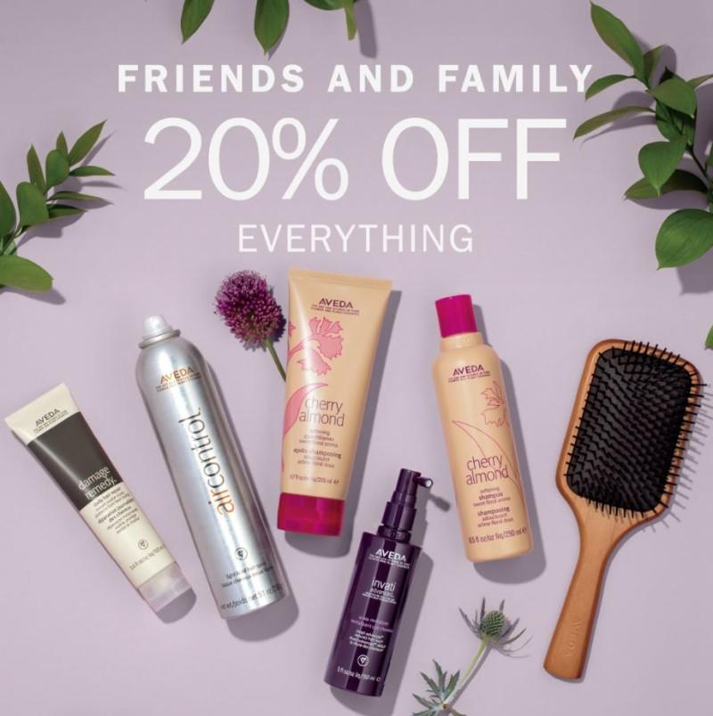 20% Off For Friends & Family! from Aveda