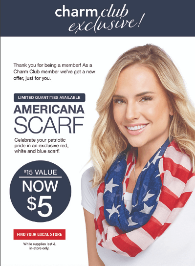 Memorial Day Special Offers from Charming Charlie