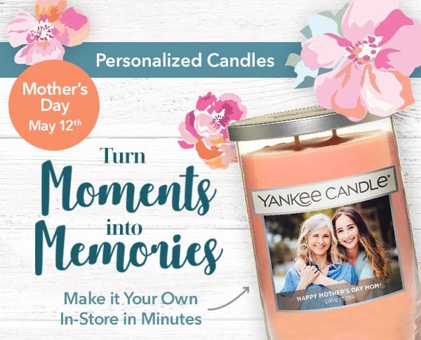 Personalized Candles for Mother's Day from Yankee Candle