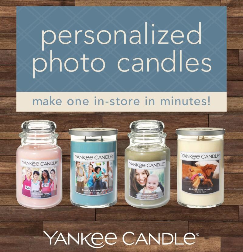 Personalize a candle in-store in minutes! from Yankee Candle