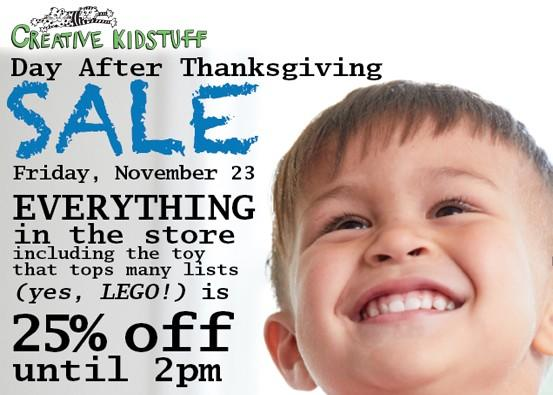 Make Creative Kidstuff a part of your Thanksgiving Weekend from Creative Kidstuff
