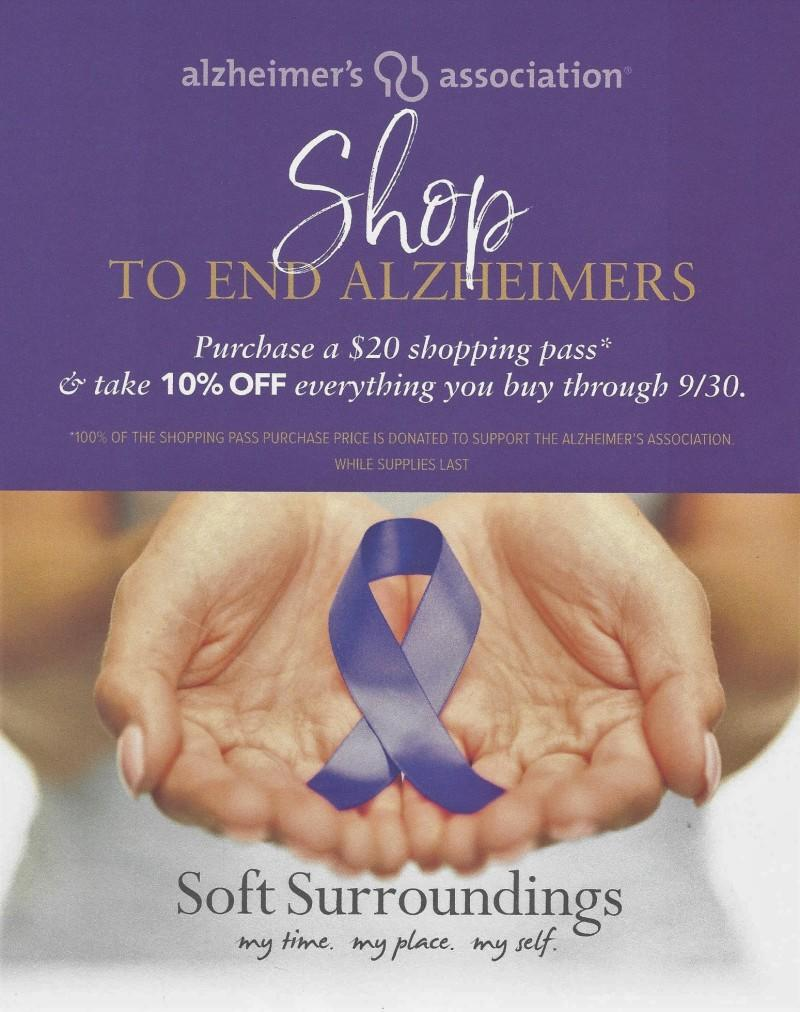 Soft Surroundings Shop to End Alzheimer's