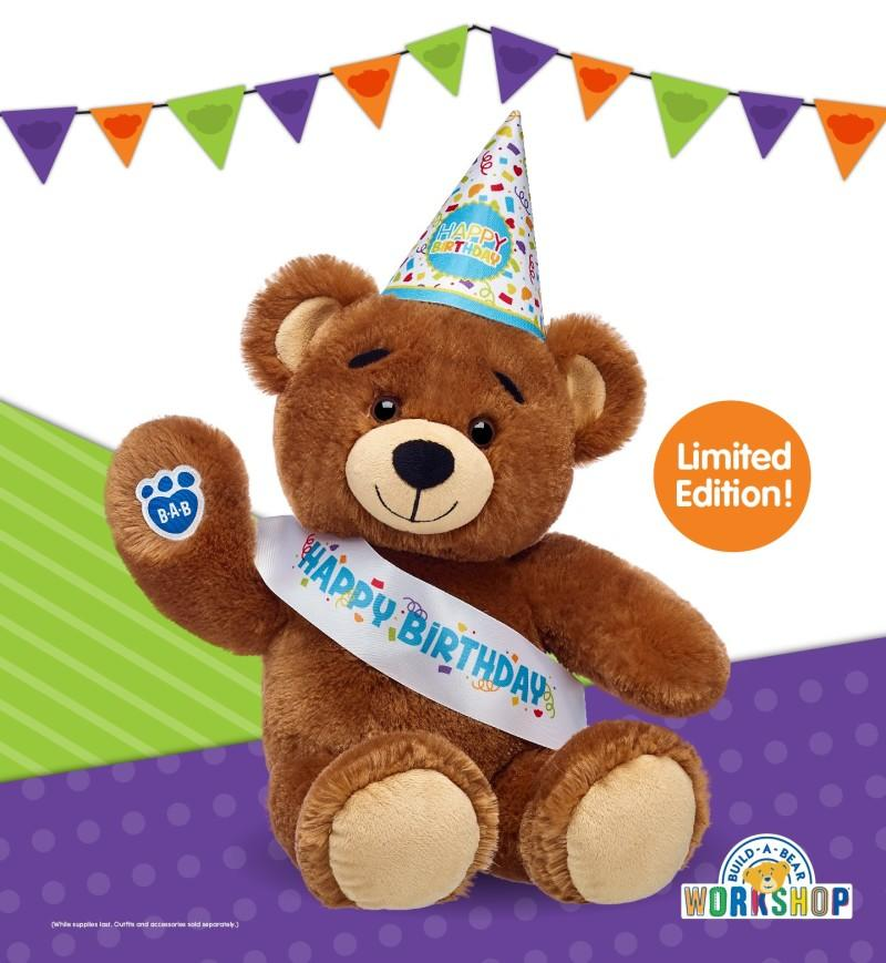 Bearemy's birthday from Build-A-Bear Workshop