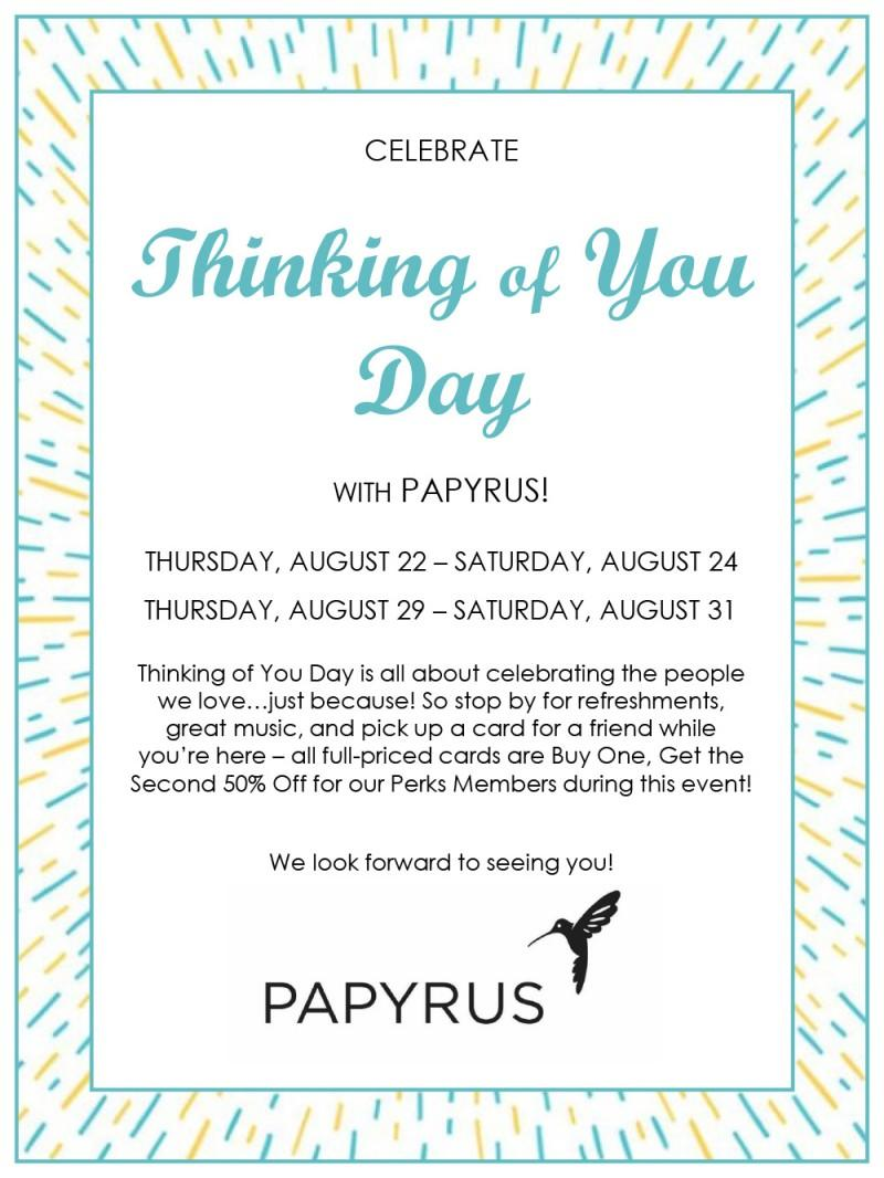Thinking of You Day from PAPYRUS