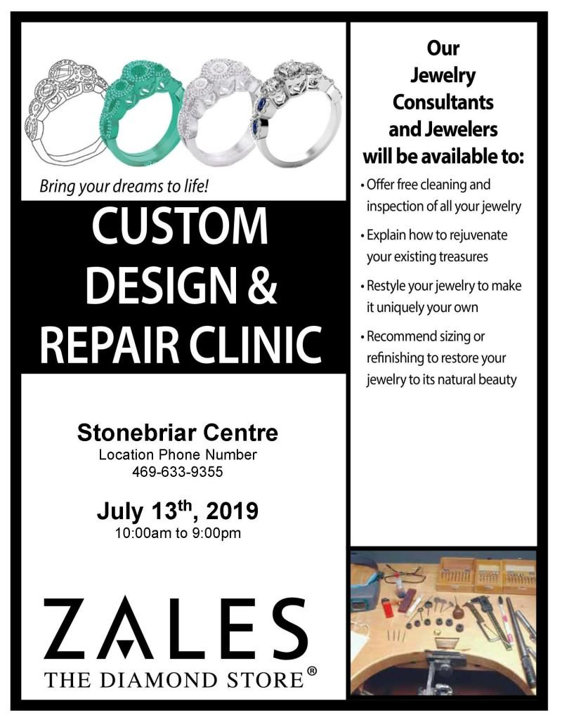 026cbce52d6490 Happening Now at Zales Jewelers. Design & Repair Clinic