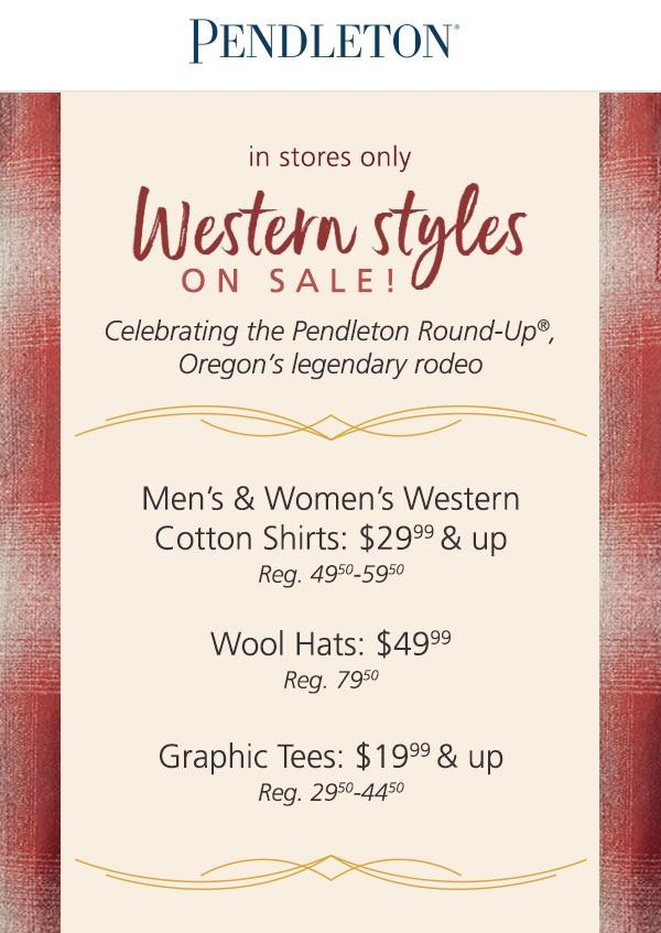 Western Styles on Sale!