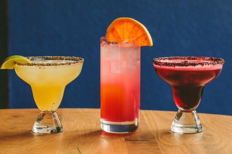 assorted tequila cocktails