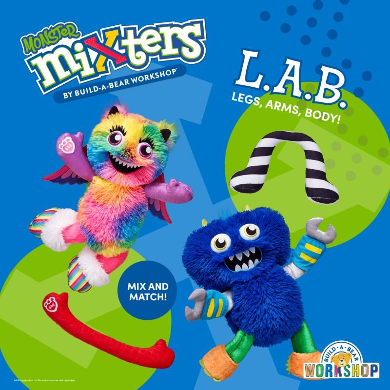 Mix It Up with Monsters Mixters from Build-A-Bear Workshop