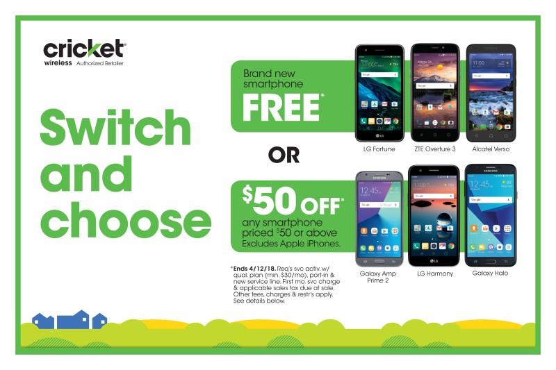 Switch & Choose from Cricket