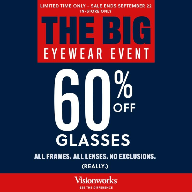 THE BIG EYEWEAR EVENT from Visionworks