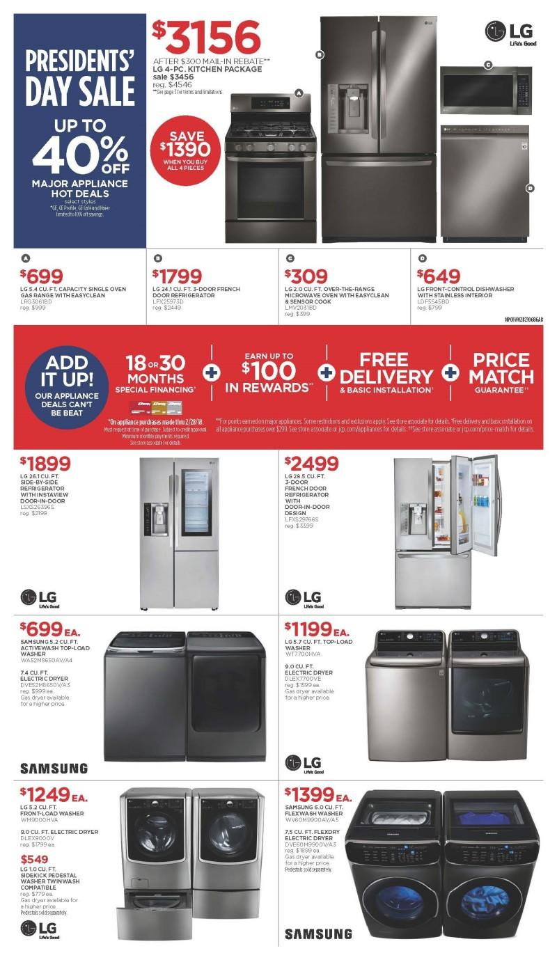 Appliance Sale from JCPenney