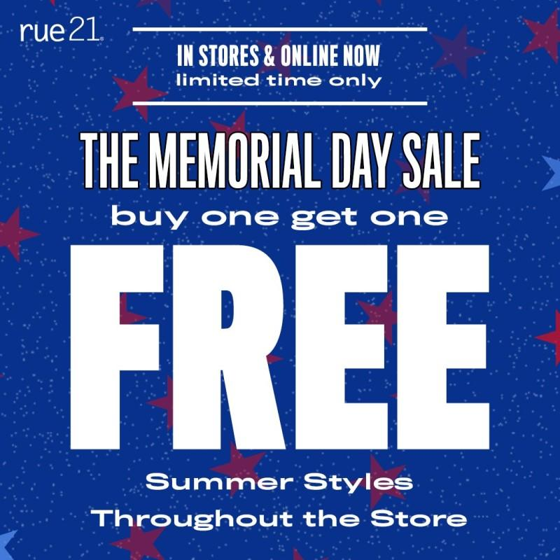 BOGO FREE throughout the store! from rue21