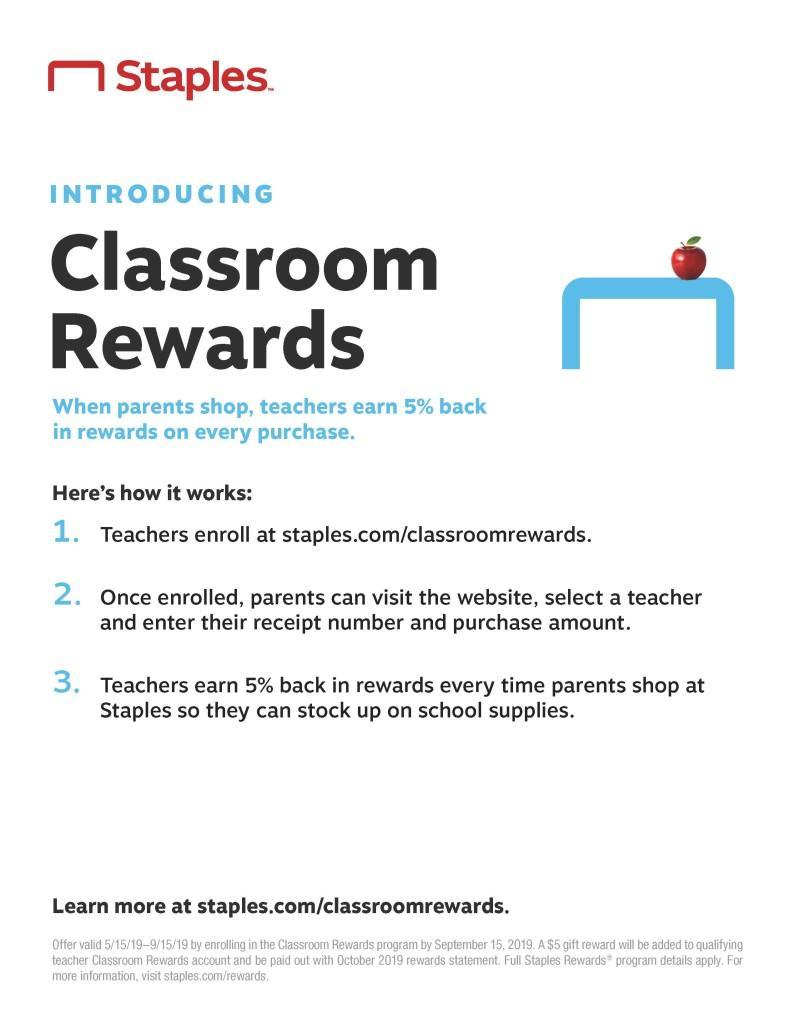 Staples Classroom Rewards