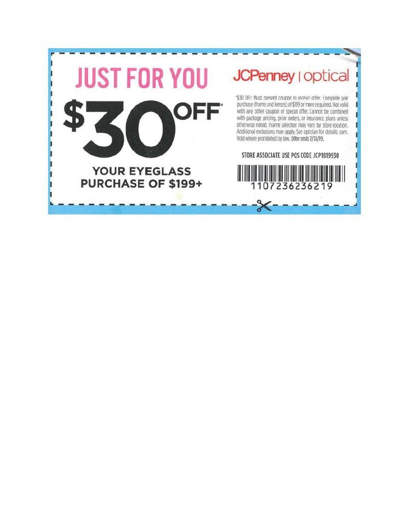 Sale at JCPenney Optical! from JCPenney Optical