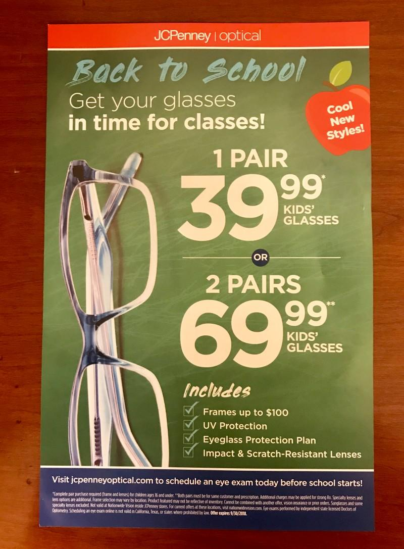 Get Your Glasses in Time for Classes! from JCPenney