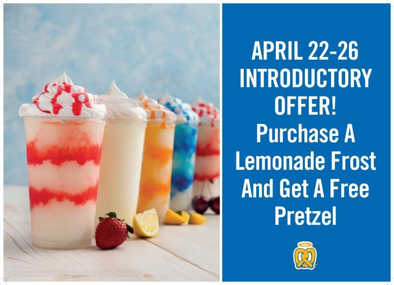 New Lemonade Frost for the summer! from Auntie Anne's