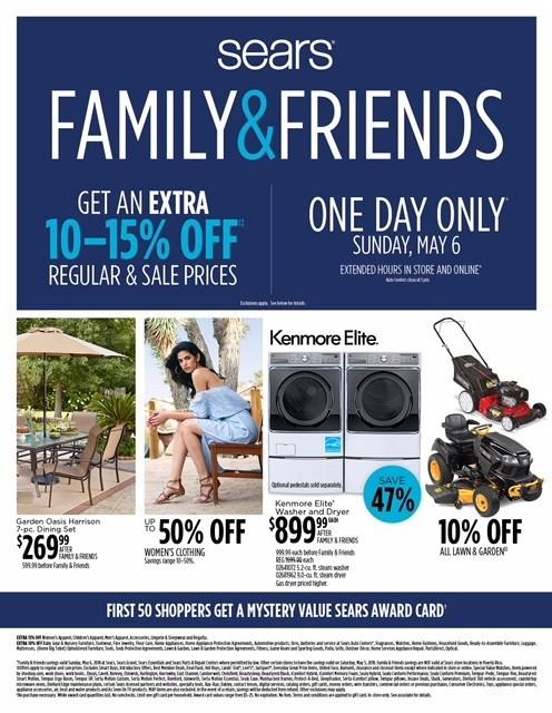Family & Friends Sale from Sears