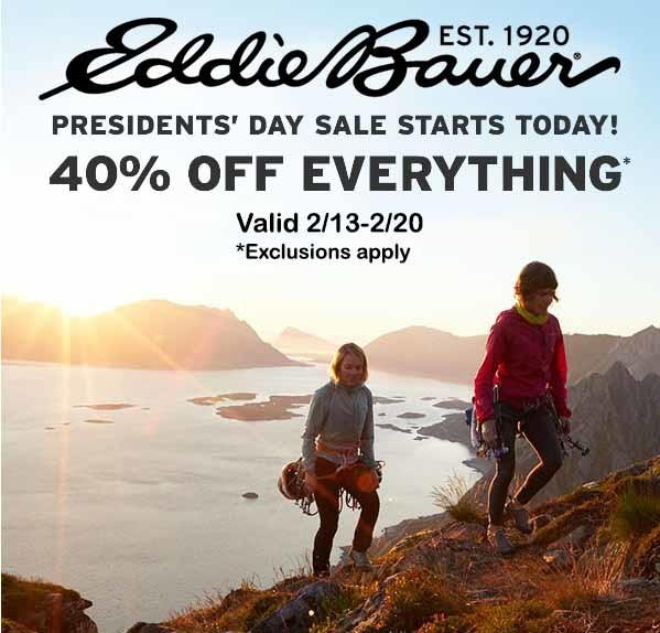 Presidents' Day Sale from Eddie Bauer