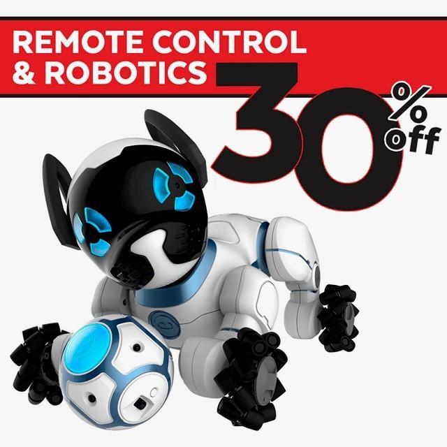 SAVE 30% on RC & ROBOTICS!